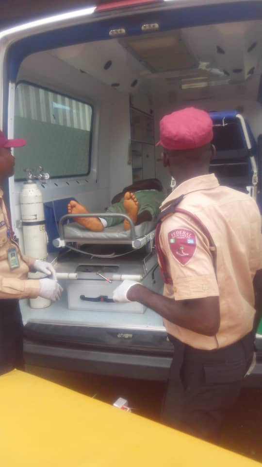 PHOTOS:Bus carrying 37 NYSC members crashes in Ogun