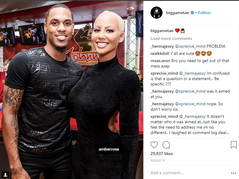 Amber Rose out having fun with boyfriend Monte Morris