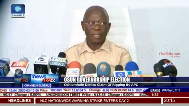 Adams Oshiomhole allergy confirms rigging and defeat