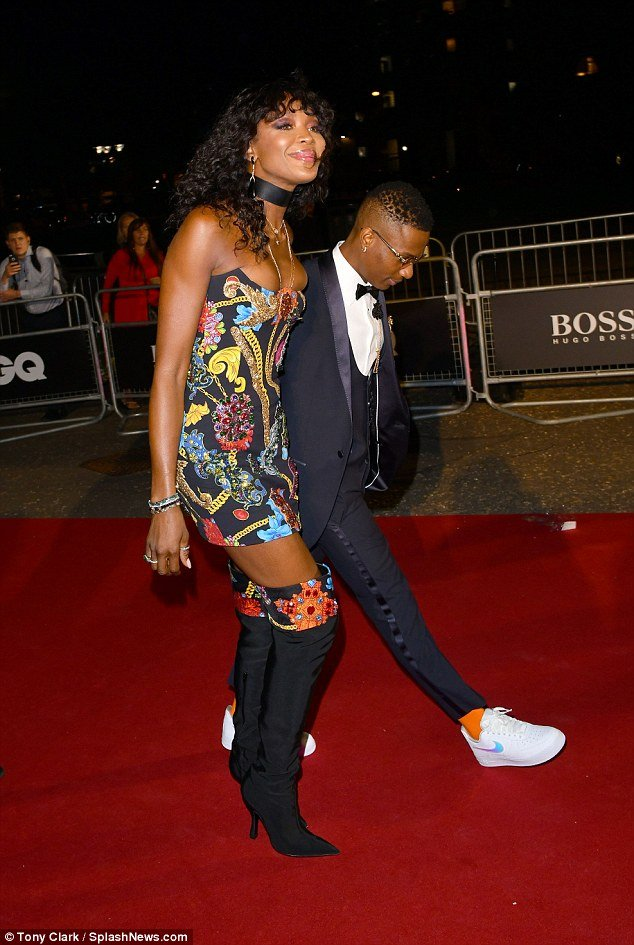 Wizkid attend GQ men of the year Awards with Naomi Campbell (video)