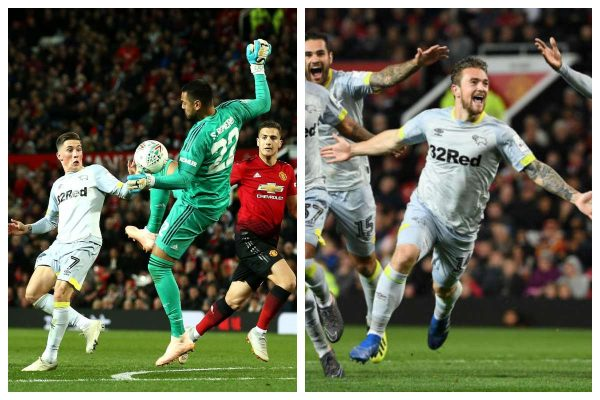 Derby kick Manchester United out of EFL Cup
