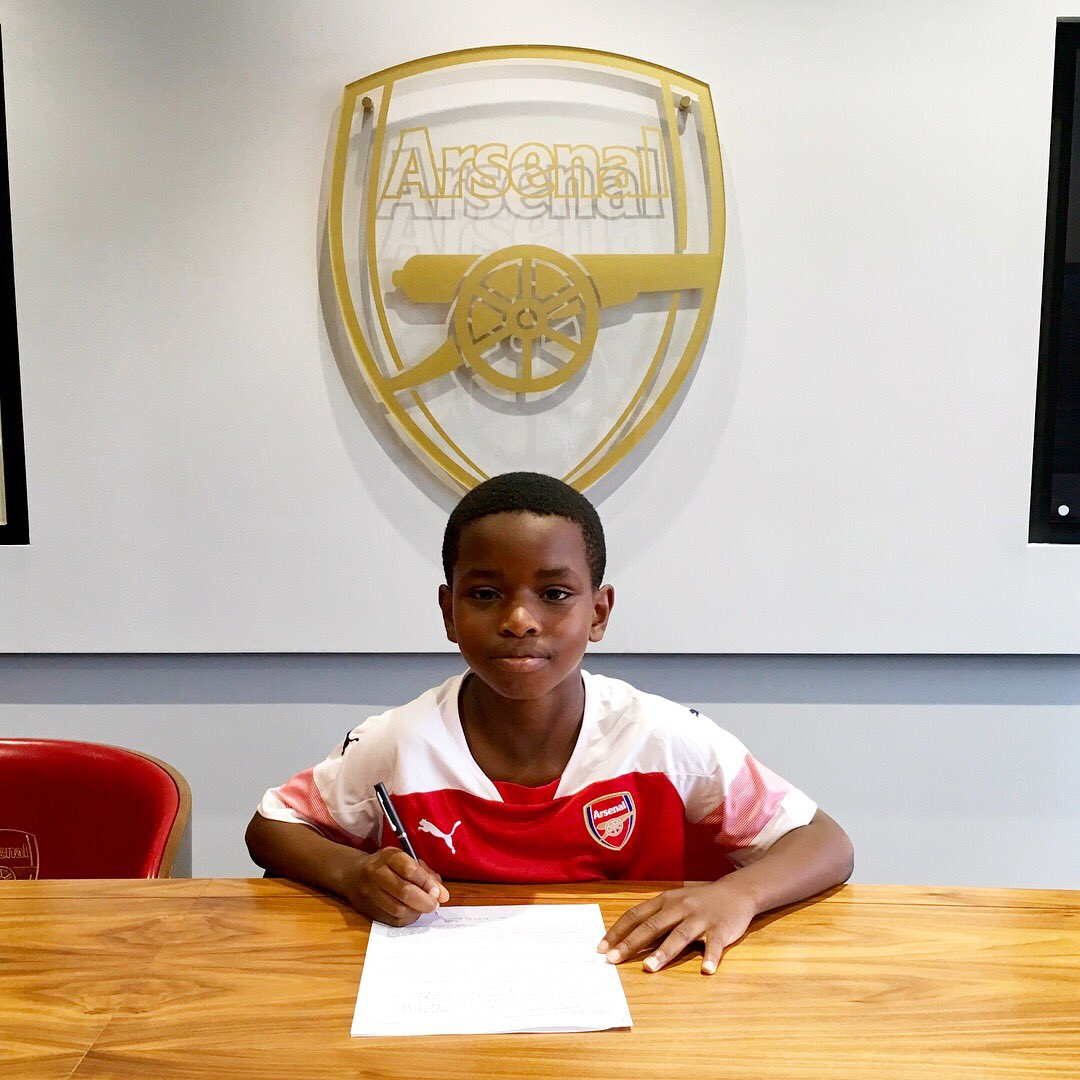 Arsenal have successfully signed 9-year-old Jayden Adetiba, who impressed academy staff during a five-week trial in South Africa.