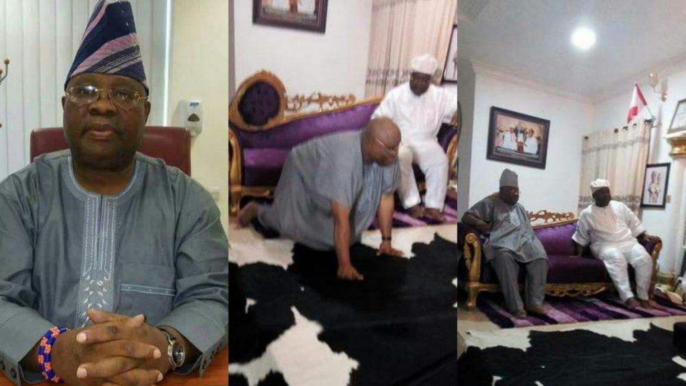 Ademola Adeleke allegedly seen kneeling to beg Omisore