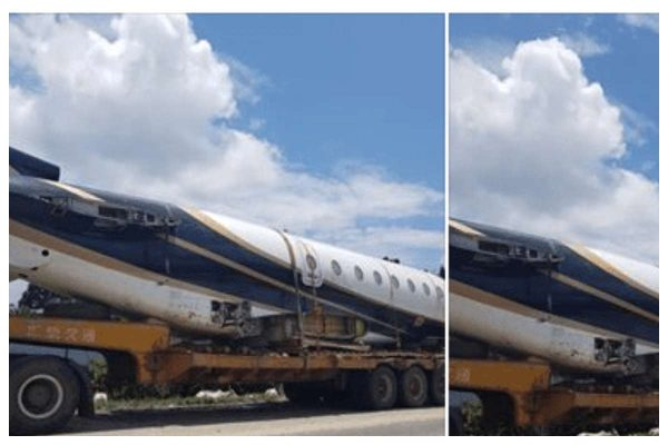 Photos Aircraft spotted being transported in a trailer truck in Nigeria lailasnews