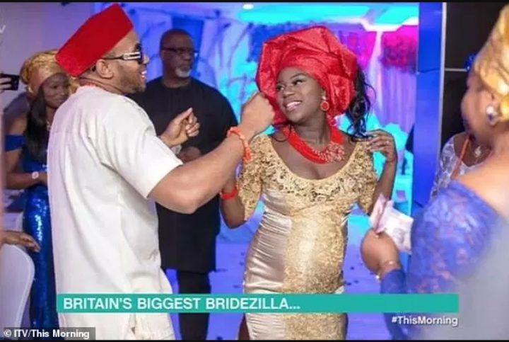 Nigerian lady spends £70,000 on 5 different ceremonies & 13 wedding gowns