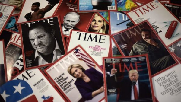 Time Magazine sold for $190 million from $1.8 billion a year ago