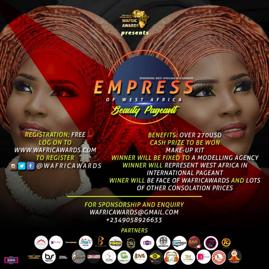 West African Citizen Awards & Empress of West Africa Beauty Pageant holds October 27th, 2018