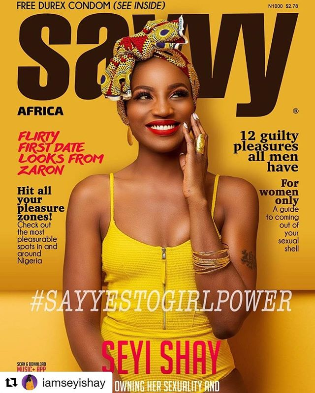 Seyi Shay Covers Latest Issue Of Savvy Magazine Africa in Underwear