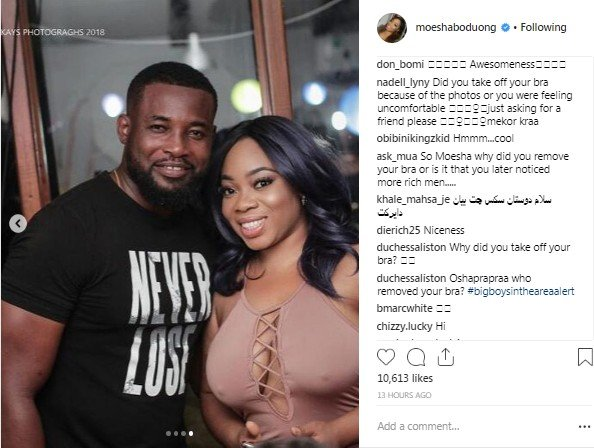 Actress Moesha Boduong Shares On-bra And Braless Photo At Event, Fans React
