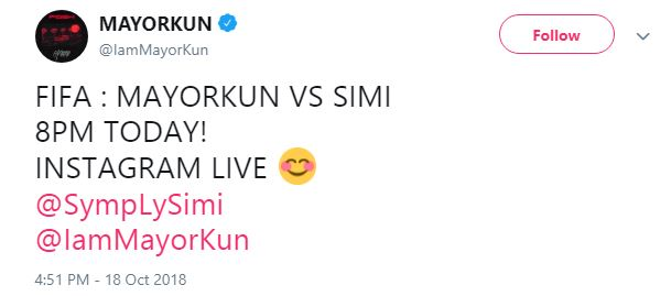 Simi Heavily Beaten By Mayorkun After She Placed A Bet With Him (photos)