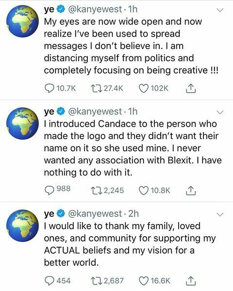I Have Been Used To Spread Messages I Don't Believe In— Kanye West Curve Trump