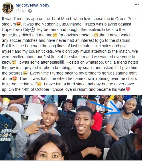 SA Lady marries the man who photo bombed her exactly 7 months ago