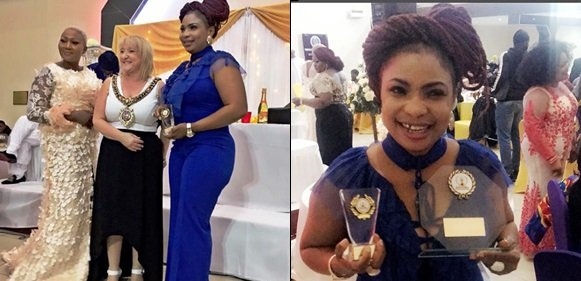 Nollywood Actress Laide Bakare Bags Double Awards in Manchester