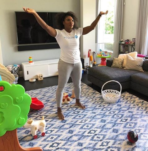 Serena Williams shows off her living room transformation of been a mom