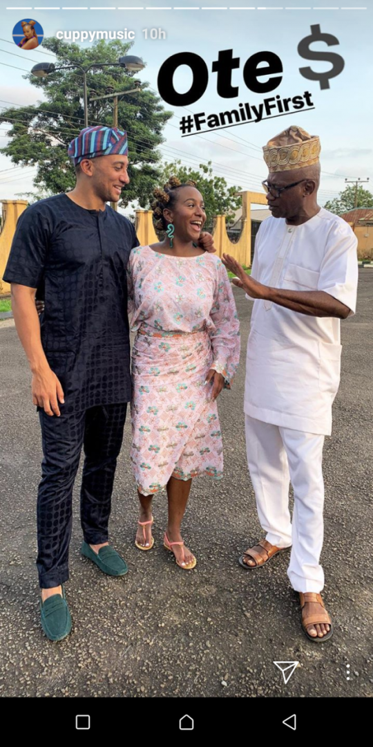 Dj cuppy Visit her home town in Epe with her brothers (pics)
