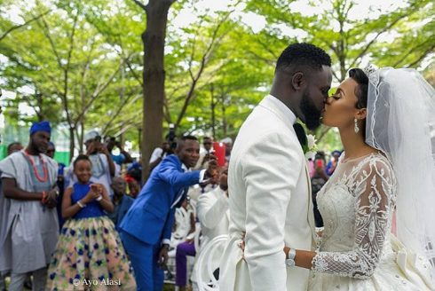 Yomi Casual & his wife celebrate first wedding anniversary with lovely photos