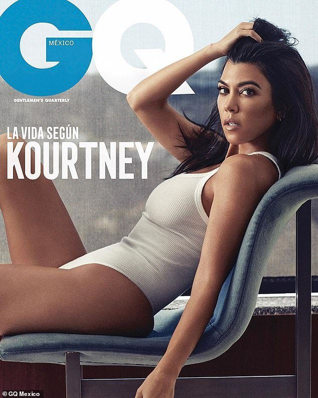 Kourtney Kardashian poses completely Nude for her first GQ cover