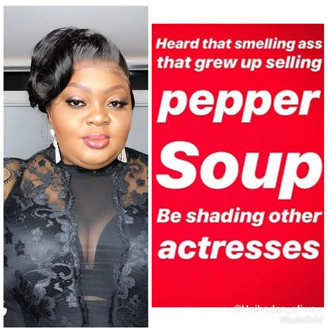 Eniola Badmus Blast Actress Nkechi Blessing, calls her Smelling Ass That Used To Sell Stew For A Living
