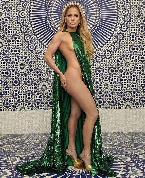 Jennifer Lopez Goes Completely Half Naked On Halloween