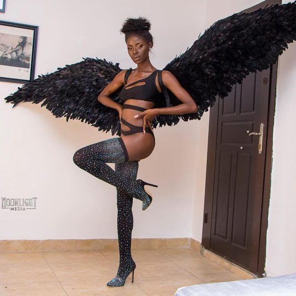 Bbnaija's Khloe Attempts To Break The Internet With Sexy Halloween photos