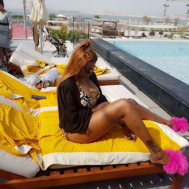 Nollywood Actress Rukky Sanda flaunts major boobs in Bikini Photos