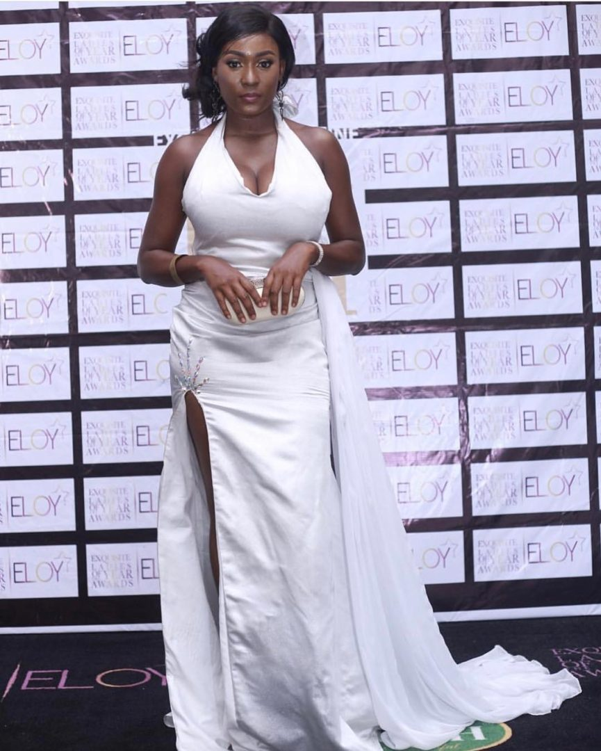 Lota Chukwu Steps Out In Cleavage-Baring Outfit at Eloy Awards