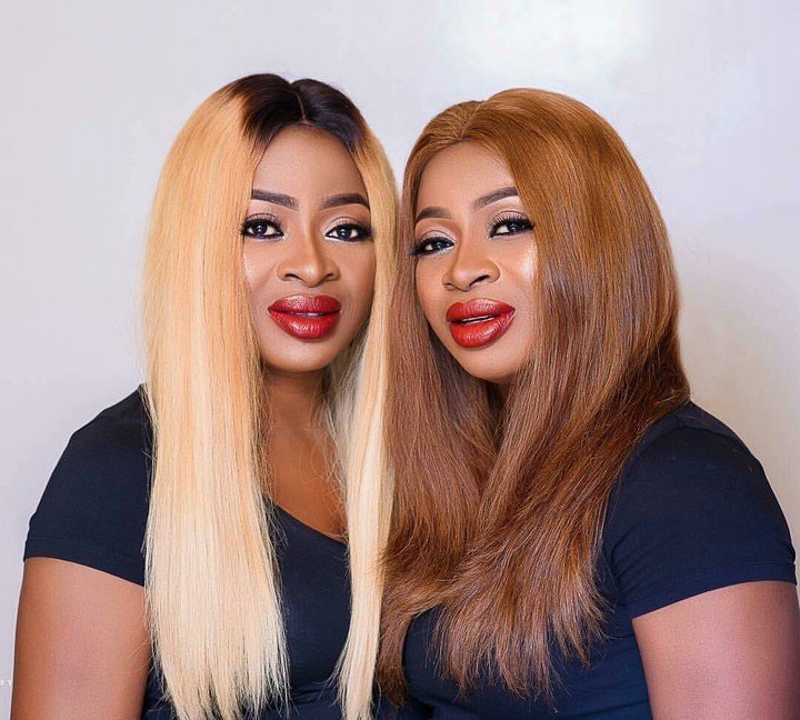 Aneke twins, Chidiebere and Chidinma share beautiful make-up pictures