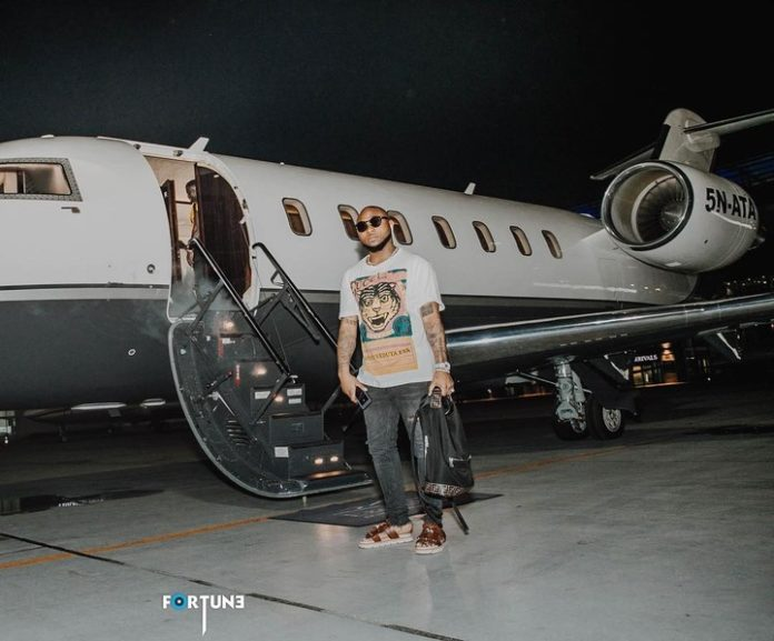 Davido fly out to Liberia, says it's his first time