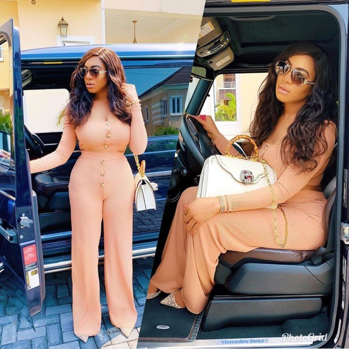 Curvy Actress Chika Ike Poses With Her G-Wagon In New Photos