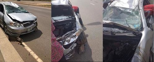 DJ Kaywise Cheats Death in ghastly motor accident in Abuja