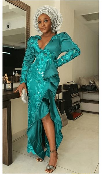 You will not believe how tiny Ini Edo's waist is now