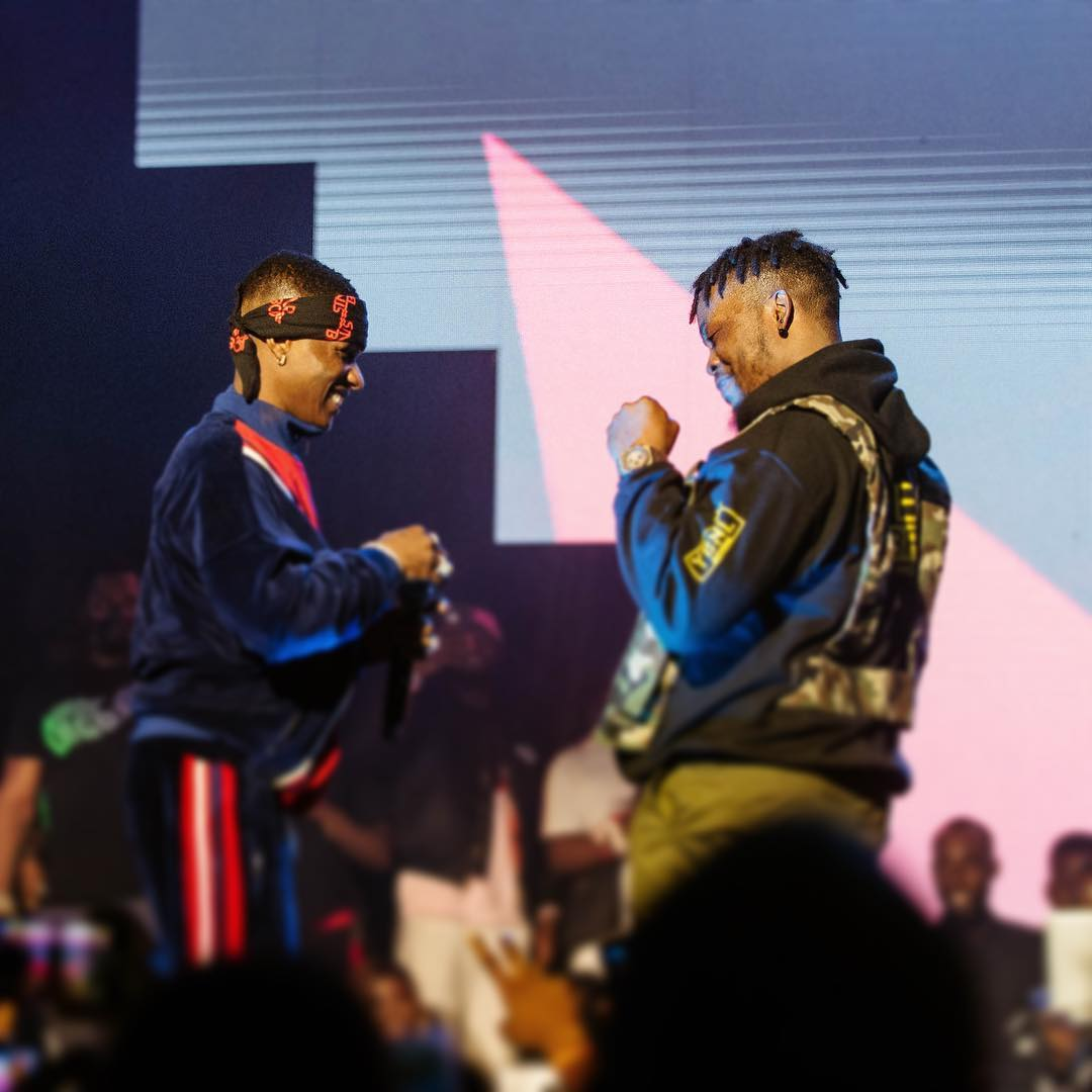 Olamide shares lovely Photos of him and wizkid at Olic5 Last night