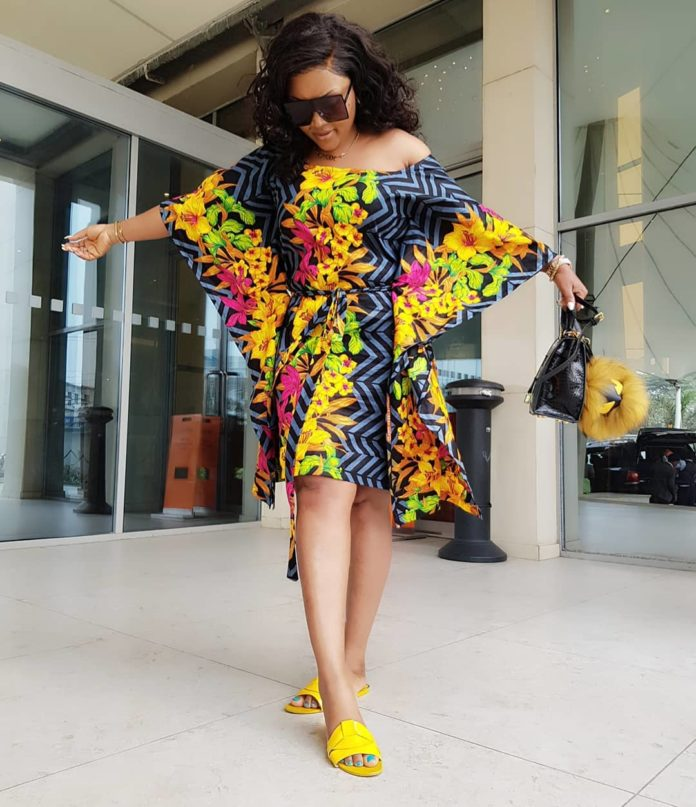 My Babies are the best!!!! - Mercy Aigbe sizzles in a Multicolored Ankara Dress
