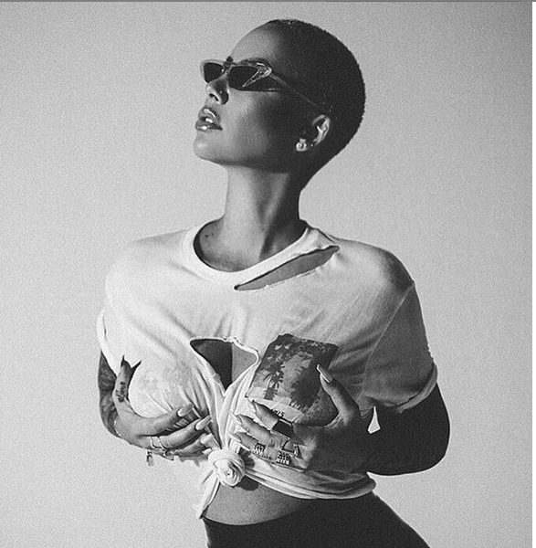 Amber Rose flaunts nipples in see through top