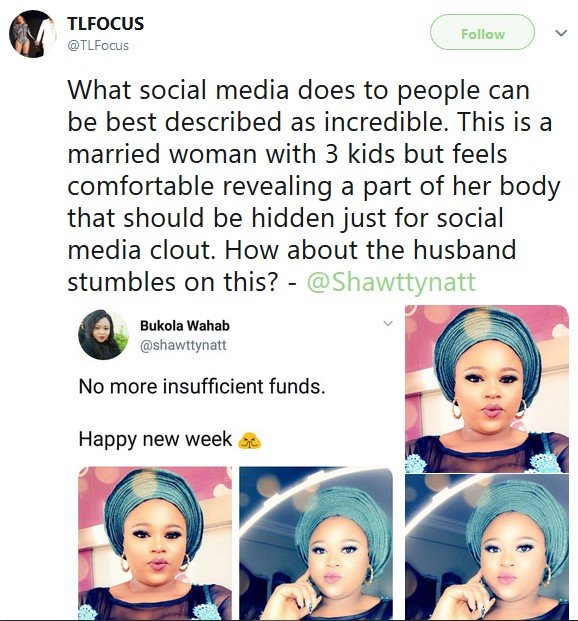 Bukola Wahab, Married Woman In Boobs Revealing Outfit, See Reactions