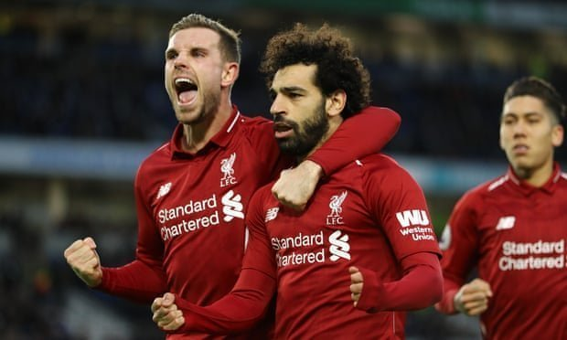Salah penalty puts Liverpool seven points clear at the top