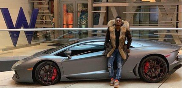 Ex - Nigerian Footballer, Obafemi Martins Flaunts His Brand New Ferrari Spider