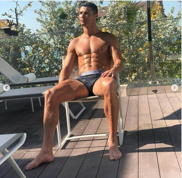 Cristiano Ronaldo Flaunts His Hot Physique As He Strips Down To His Briefs