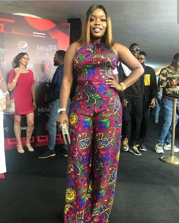 Singer and actress, Bisola Aiyeola Wows In Floral Jumpsuit To Soundcity MVP Awards
