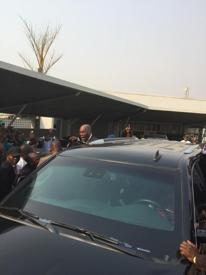PDP's Presidential Candidate, Atiku Abubakar Arrives Nigeria From U.S