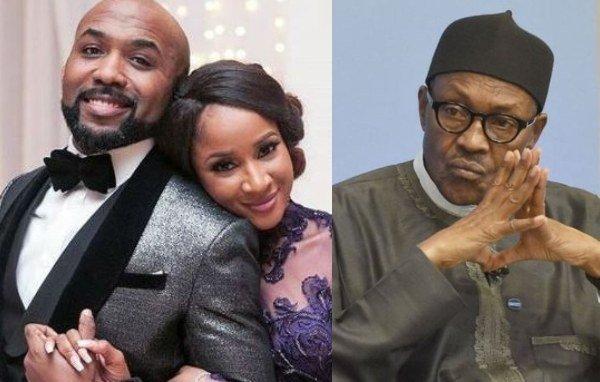 Adesua Etomi And Banky W React To Being Paid To Promote Buhari