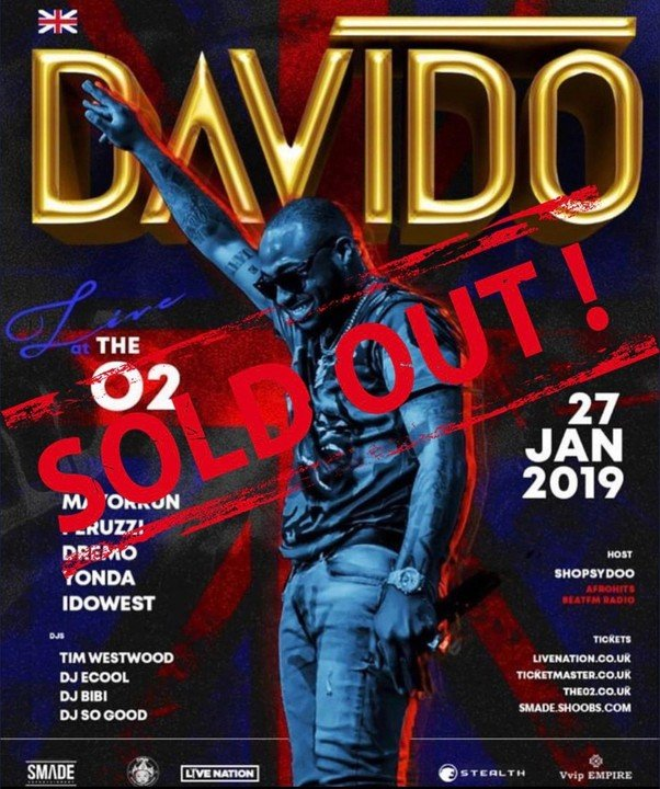 Davido Sold Out 02 Arena, As he Prepares to Perform In London