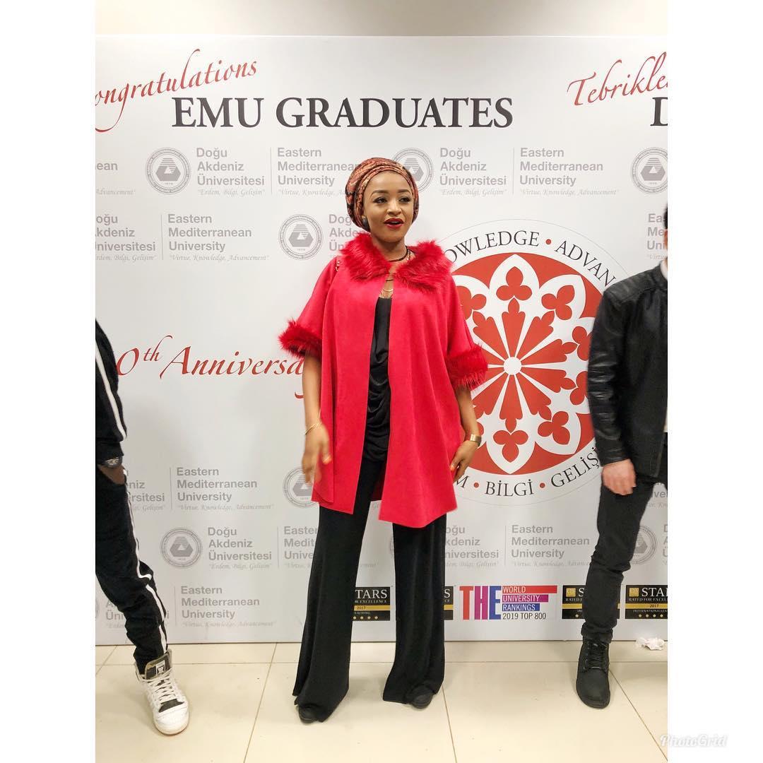 Actress Rahama Sadau Graduates From Eastern Mediterranean University