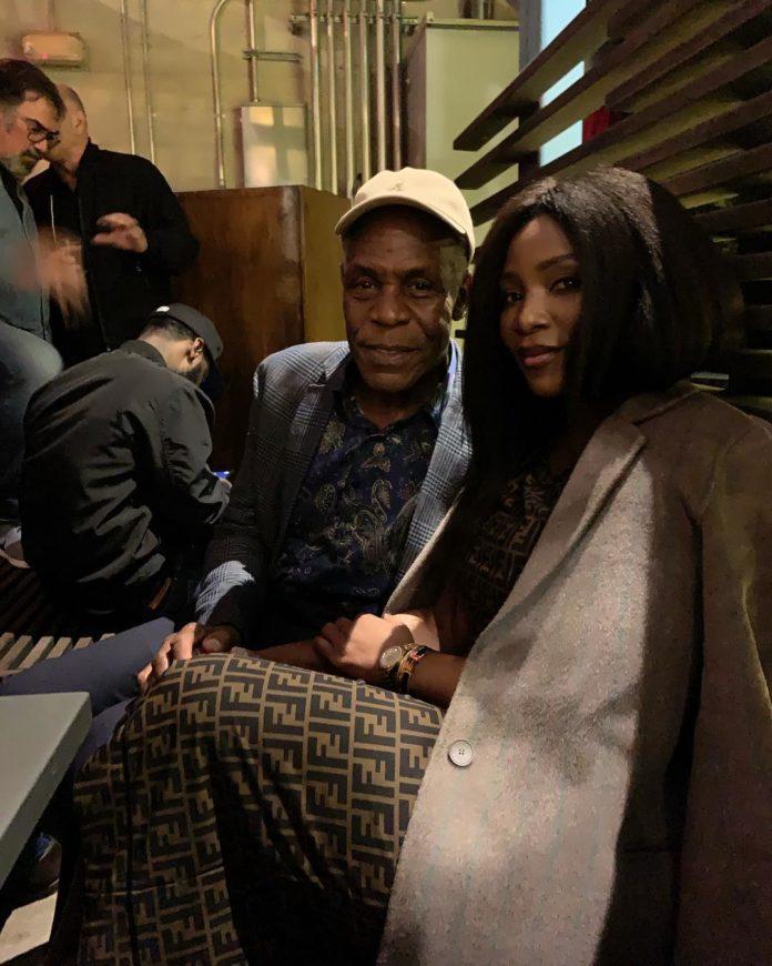 Genevieve Nnaji Meets With American Veteran Actor, Danny Glover