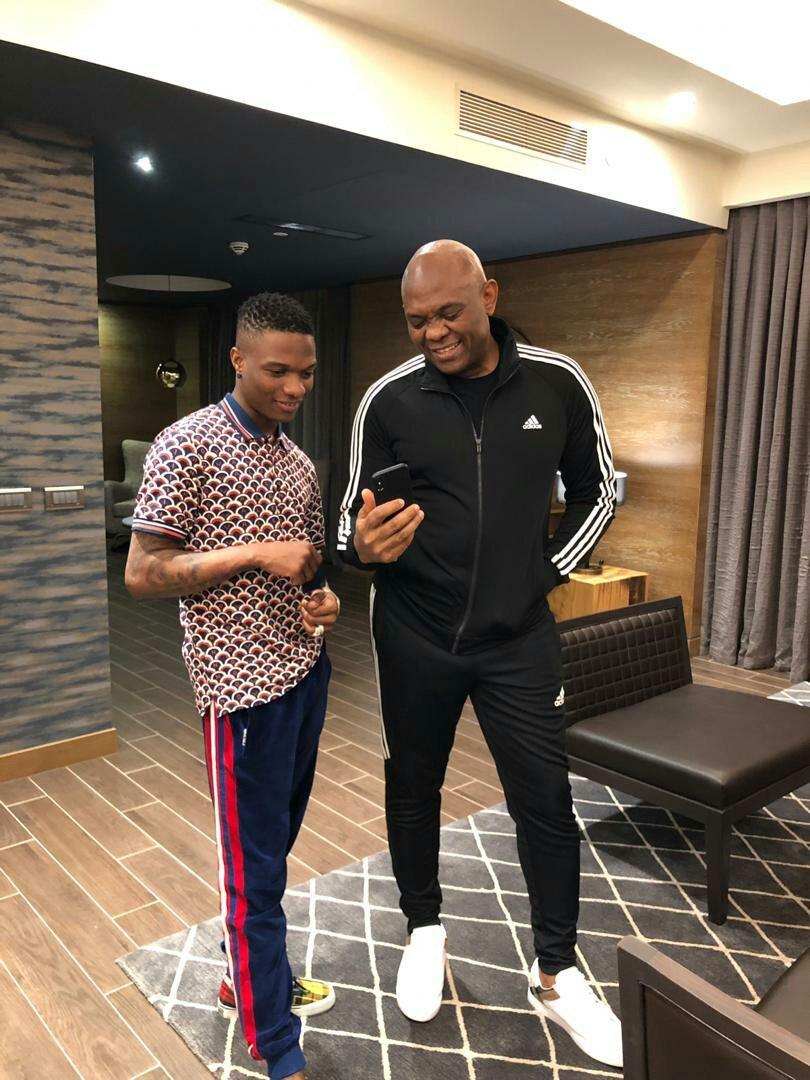 Star boy Wizkid Spotted With UBA Chairman, Tony Elumelu (photos)