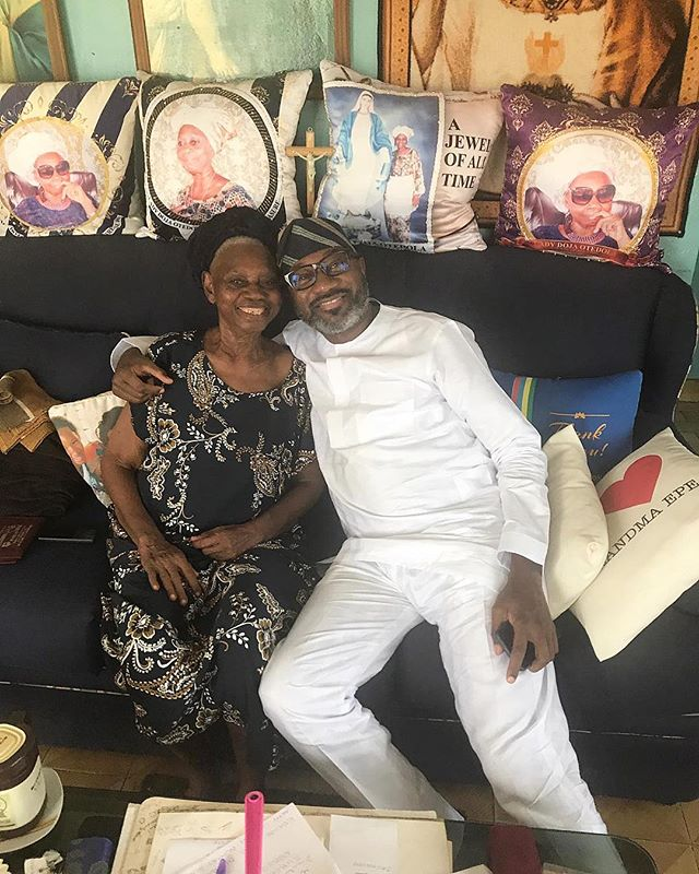 Billionaire Femi Otedola Shares Cute Photo With His Mother