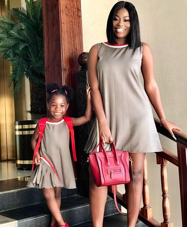 Sophia Momodu And Daughter, Imade Steps Out In Matching Attire