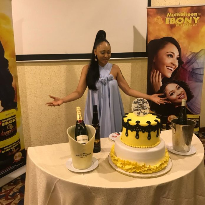 Rosaline Meurer Gets Surprise birthday Celebration from EBONY HAIR