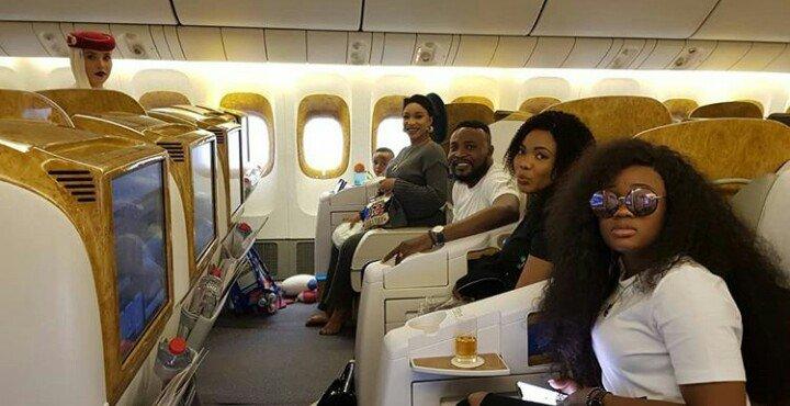 Cee-C,Tonto Dikeh, & Wale Jana, Fly out to Dubai For 'The Billionaire Perfumer'  Video Shoot