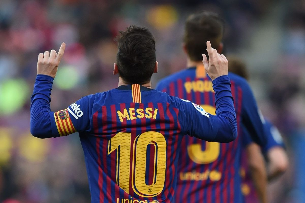 Messi hits his 40th goal in 10 seasons consecutively